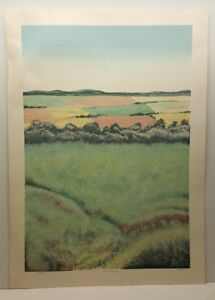 Limited Edition Signed Serigraph Art Print Countryside I