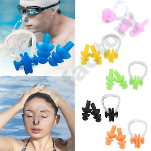 Soft Kids Swimming In Ear Plugs And Nose Clip Set for Under Aged 10 Diving Pool