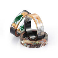 Resin Ring Wooden Flower Plants Novelty Ring Handmade Ring Wood Fashion Gift New