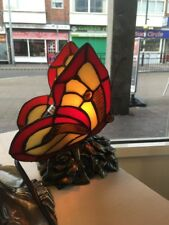 Tiffany Butterfly Table Lamp - Multicoloured - Genuine Rrp £65