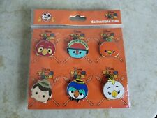 Disney Trading Pins Lot of 6 Tsum Tsum Adventureland Set 2017 Orange Bird New