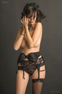 Eden Arya 6124 Playboy Model in Lingerie Hand-Signed 8.5x11 Photo by Craig Morey