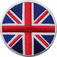 Circle UK Flag Embroidered Iron Sew On Union Jack British Patch Badge Transfer