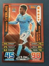 Match Attax ataque 2015 2016 Raheem Sterling Limited Edition LE4 Bronce 15 16