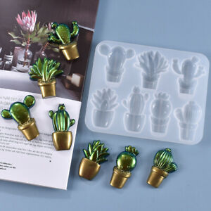 DIY Crystal Epoxy Resin Mould Cute Style Cactus Durable Reusable Silicone Mold