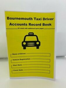 BOURNEMOUTH TAXI DRIVER ACCOUNT RECORD LOG BOOK 53 WEEK