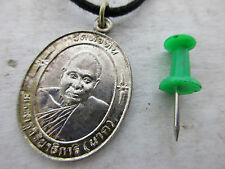 altes Mönch Amulett 925er Silber ! original !  Buddha Halskette Thailand ca 1960