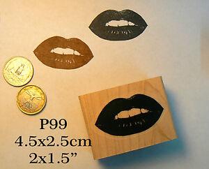 P99 Lips, kiss  rubber stamp WM