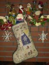 SHEPHERDS BUSH CHRISTMAS STOCKING KIT -CHARLAND- STITCH AN HEIRLOOM STOCKING