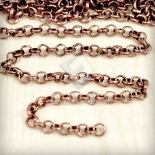 2/4m Unfinished Bulk Chain Rollo Chain Necklace Jewelry Makings Findings DIY HC