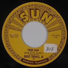 RUFUS THOMAS JR: Tiger Man 70s Reissue. SUN R&B Rocker 45 NM-