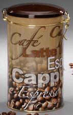 Kaffeedose Vorratsdose rund Metall 500 g Bügelverschluss sortierte Dekore