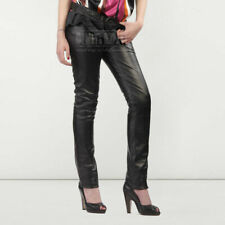 Womens Genuine Black Sheep NAPPA Leather Leggings Pants Trousers Breeches Jeans