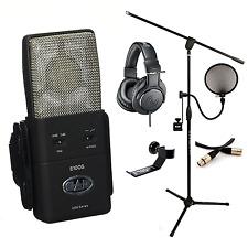 CAD Audio Equitek E100S Condenser Professional Mic ATH-M20x Stand Filter XLR SHH