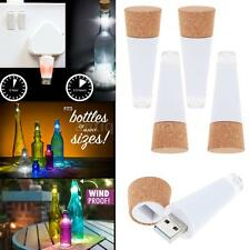 4x Cork Shaped Rechargeable USB LED Night Light Wine Bottle Lamp for Party GX14