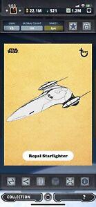 Topps Star Wars Digital Card Trader Gold TPM Classic Art Starfighter Insert