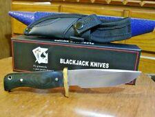 Blackjack knives Bird and Trout Knife Small Hunter Micarta Handle and Sheath
