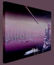 "ORIGINAL Oil painting - "" Moonlight Serenade"" ready to hang - 46""x31"""