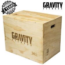 "Gravity Fitness 3 in 1 30 X 20 x 24"" Plyometric jump Box - Plyo Box"