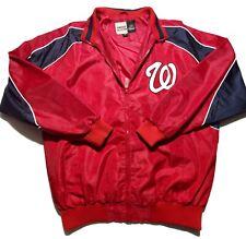 Washington Nationals Majestic Homebase Collection Mens Full Zip Jacket Size LT