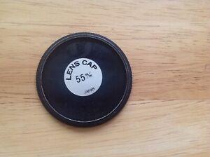 55mm metal screw in front lens cap , Vintage, made in Japan