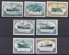 Echte Briefmarken aus Russland & der Sowjetunion mit Schiffs -/Boots-Motiv als Satz