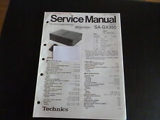 Original Service Manual  Technics Receiver SA-GX350