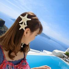 1pc Women Girls Sweet Starfish Hairpin Beach Sea Star Hair Clip Nice Gifts