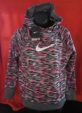 NIKE Therma-Fit KO 3.0 Allover Print Pullover Hoodie Youth Girls LG 5 to 6 Yrs