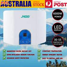 Electric Instant Hot Water Heater Portable Tankless Shower Camping Caravan 6000W