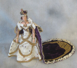 Liberty of London Queen Elizabeth II Coronation 1937 cloth doll all original NM