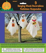 HALLOWEEN SPOOKY SCARY PARTY 3 HANGING GHOST DECORATIONS INDOOR OUTDOOR