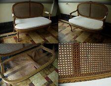 meuble antiquité fauteuil canné bois doré style 18ème époque 19éme