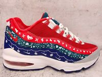 Nike Air Max 95 Ugly Christmas Sweater Womens Shoe Size 8 (6 Y) CT1593 100