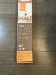 "Allen+Roth Cordless 2"" Faux Wood Blinds White 34.5"" x 48"" Room Darkening"