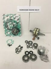 1998-2001 Kawasaki KX250 KX-250 Complete Engine Rebuild Kit Piston & Crank