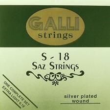 Compiacuto, baglama corde, Strings, Galli s-18 EXTRA LIGHT SET 018