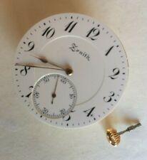 ZENITH Originale Orologio da taschino Corona movimento OTTIME CONDIZIONI splendido lavoro