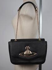 New Vivienne Westwood black bag leather shoulder handbag bag