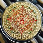 The Prophecy Mayan Aztec Coin Finished In Gold .999 1oz Collectable Medallion