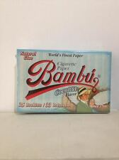 Bambu Cigarette Paper Coconut Flavor 25 Booklets 33 Leaves Each. Natural Glue.