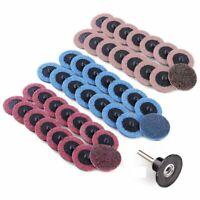 2-Inch Roloc Sanding Discs Fine Medium Coarse Assorted Pack 45Pcs Roll Lock D9G2