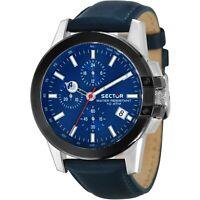 Sector Orologio Uomo Cronografo Collezione 480 Nero Blu R3271797005