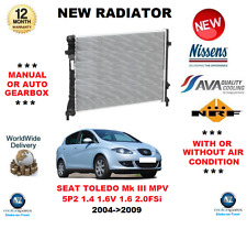 Para Seat Toledo Mk III MPV 5P2 1.4 1,6v 1.6 2.0FSi 2004-2009 Radiador OE