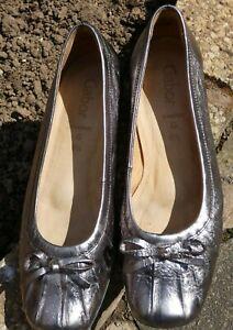 Gabor Pewter Leather shoes size 6.5 UK