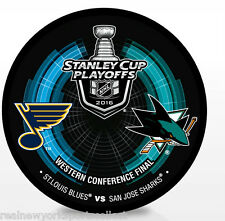 2016 ST. LOUIS BLUES VS. SAN JOSE SHARKS WESTERN CONFERENCE FINAL PUCK