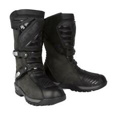 Spada Raider CE Waterproof Leather Motorcycle Boots Adventure Touring Black