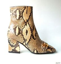 new $1850 Dior 'C'Est Dior' real PYTHON snakeskin logo ankle BOOTS 34 4 - unique