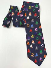 Rainbow fleet tie by Eric Holt Alynn neckwear creative American design sailboats