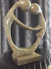 Brazilian Artist K. Silva, Abstract Man and Woman Soapstone Sculpture